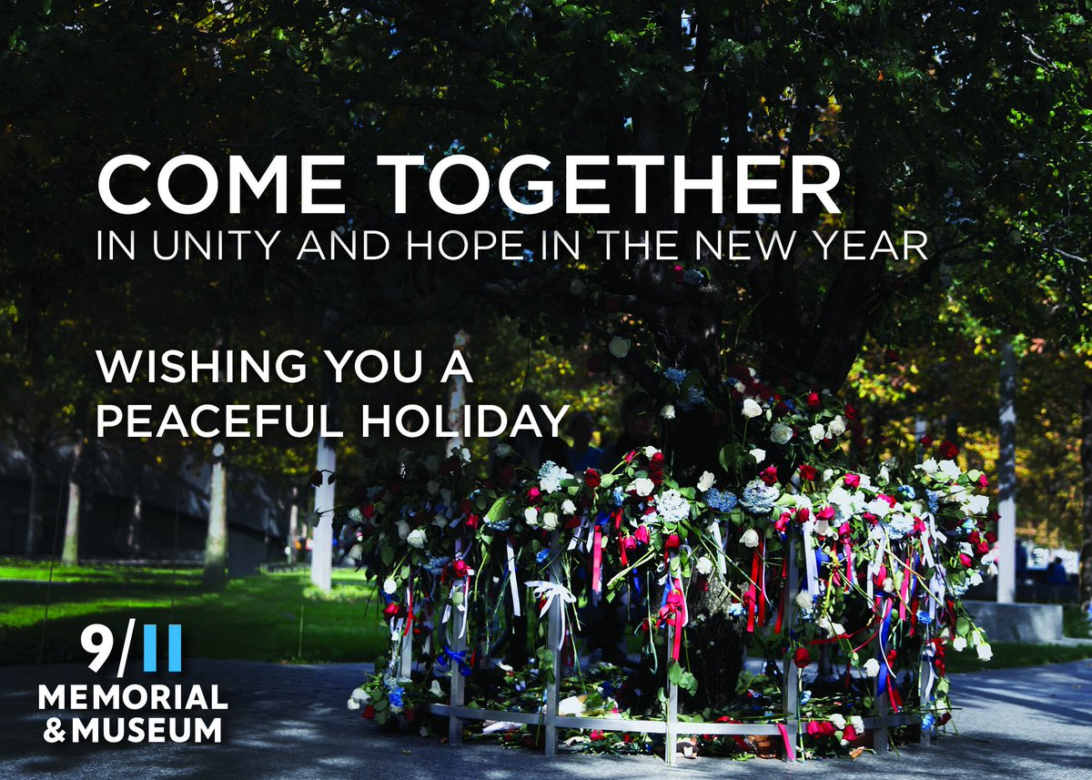 The #911Memorial & #911Museum wishes everyone a joyful and peaceful holiday season. #HappyHolidays