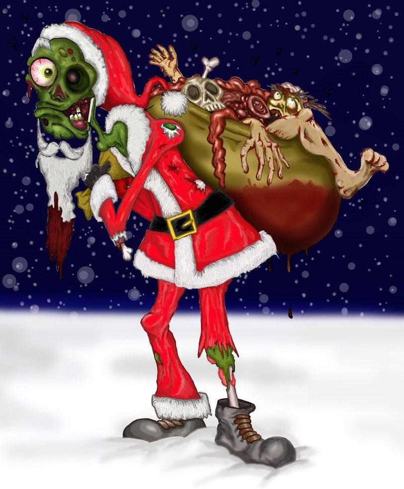 Christmas Zombie Santa.Image Management Grp On Twitter Hopefully Zombie Santa