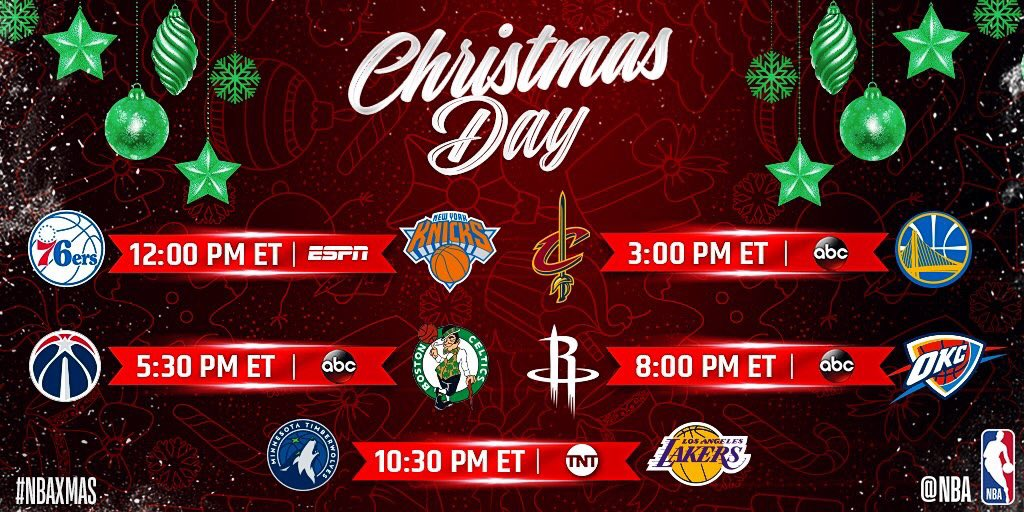 Nba Christmas Day Schedule.Procity Hoops On Twitter Merry Christmas Everyone Here S