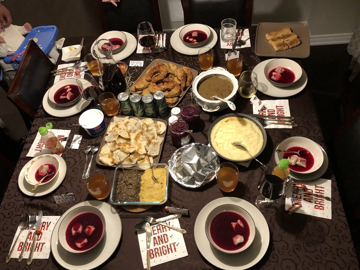 caroline szwed on twitter wesolych swiat christmas eve dinner and christmas breakfast in a traditional polish household thankful