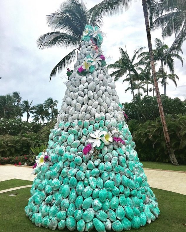 Coconut Christmas tree