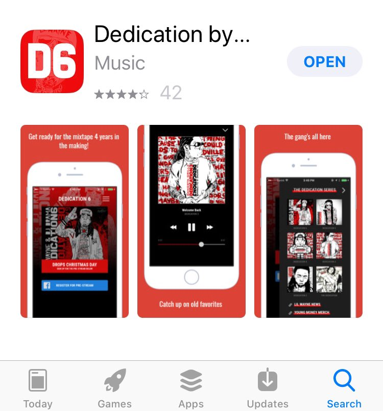 #D6 out NOW via the #D6APP and available everywhere shortly on https://t.co/CAiA6pHI72  Merry Christmas!! https://t.co/xSurg0tc8Y
