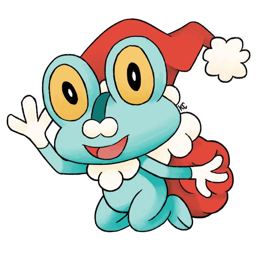 kc art on twitter gen 6 water type santa froakie says merry