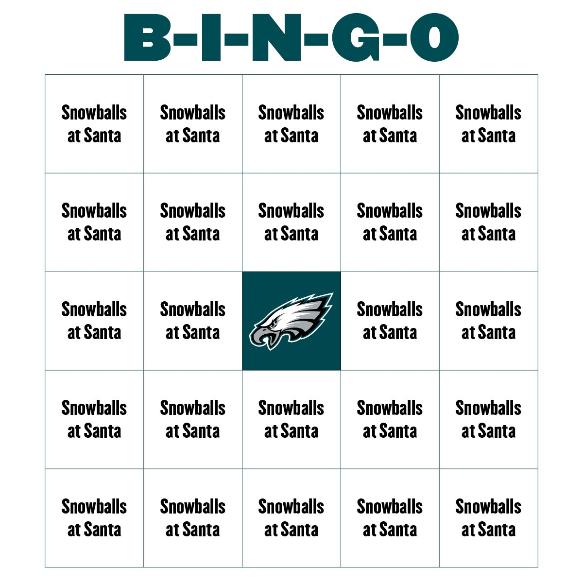 philadelphia eagles on twitter let us know if you get bingo during tonight 39 s broadcast we. Black Bedroom Furniture Sets. Home Design Ideas