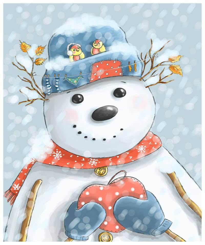 Поцелуями день, прикольные картинки доброго зимнего утра и хорошего дня со снеговиками