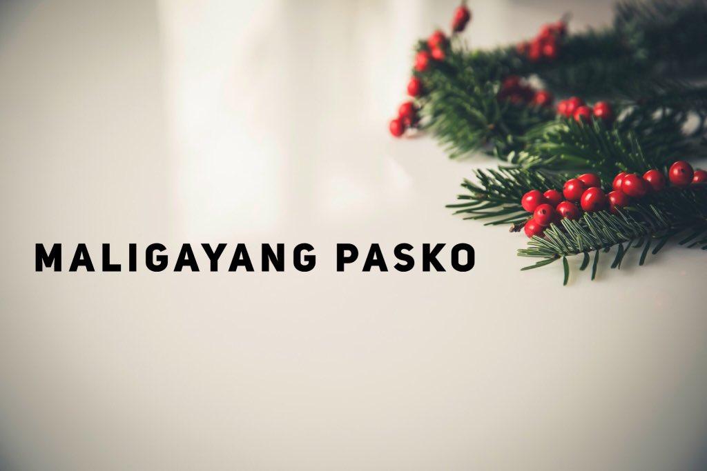 Merry Christmas In Filipino.Filipino Americans On Twitter Merry Christmas
