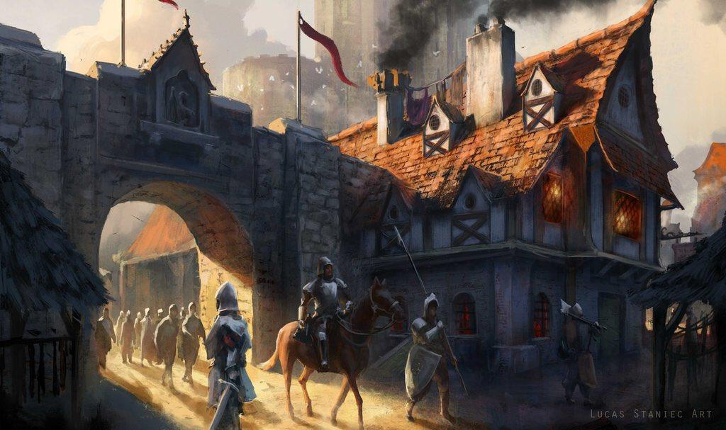 Medieval Fantasy Town Concept Art