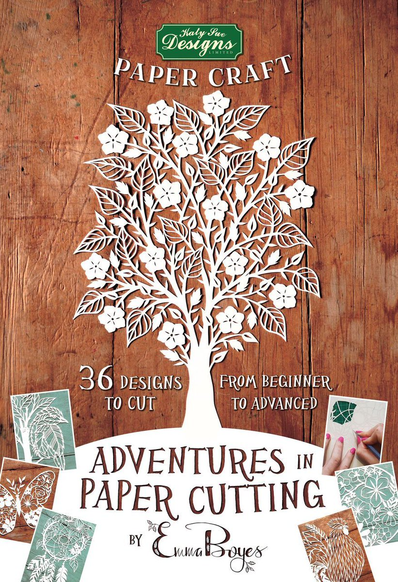 Series One Adventures in Paper Cutting Designs and Patterns Papercut Templates Perfect for Beginners: Turn a Single Piece of Paper into a Work of Art by Emma Boyes