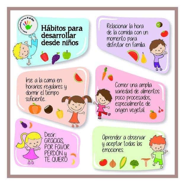 habitos de vida saludable para ninos