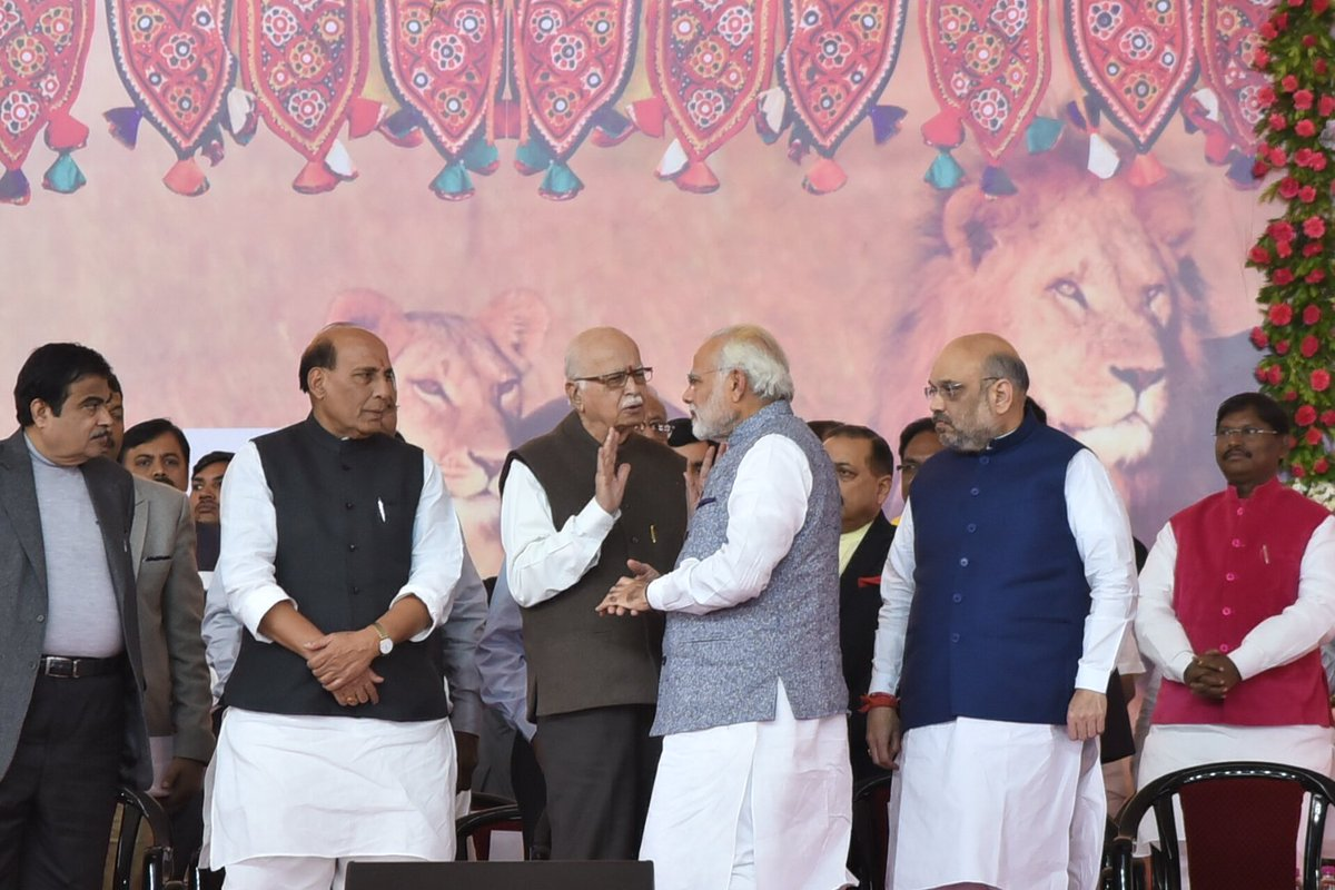 Political leaders, Chief Ministers of various states, our esteemed NDA allies and respected former Chief Ministers of Gujarat joined the occasion, making it even more special.