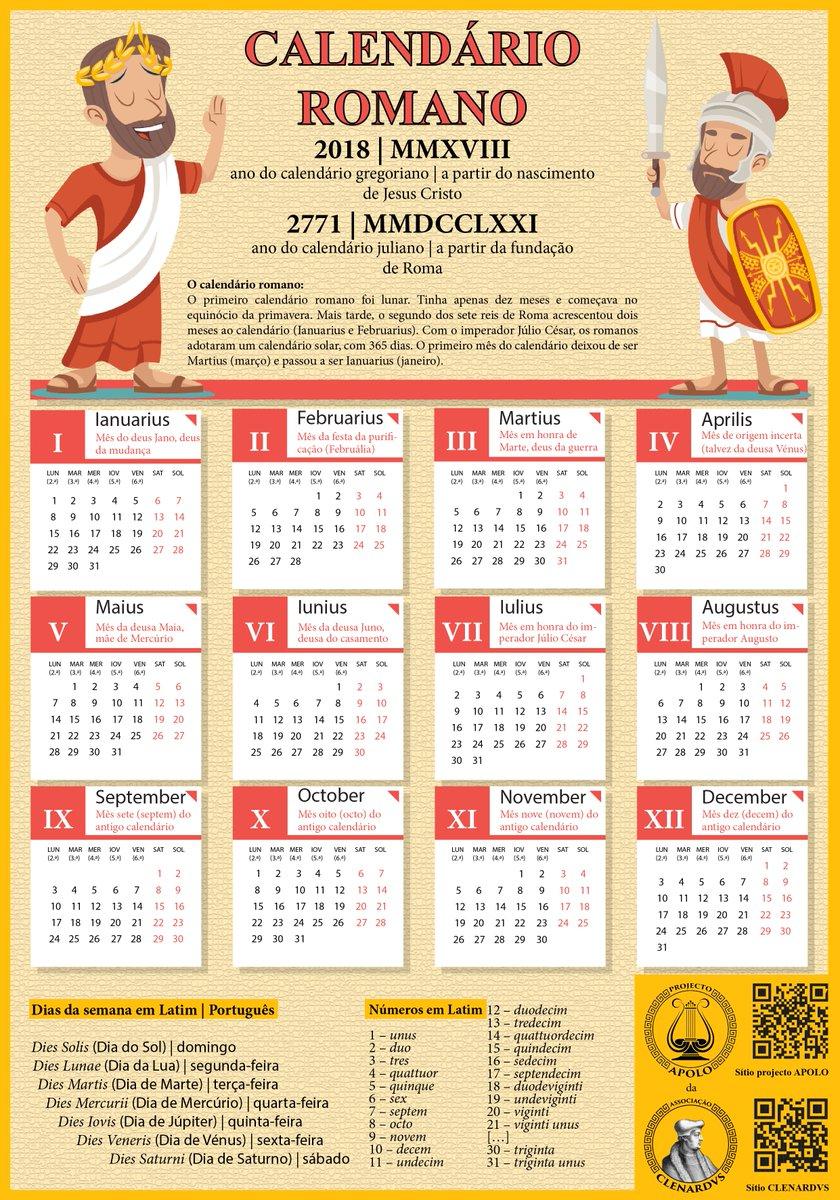 Calendario Romano.Javier Sanchez Quiros On Twitter Calendario Romano 2018