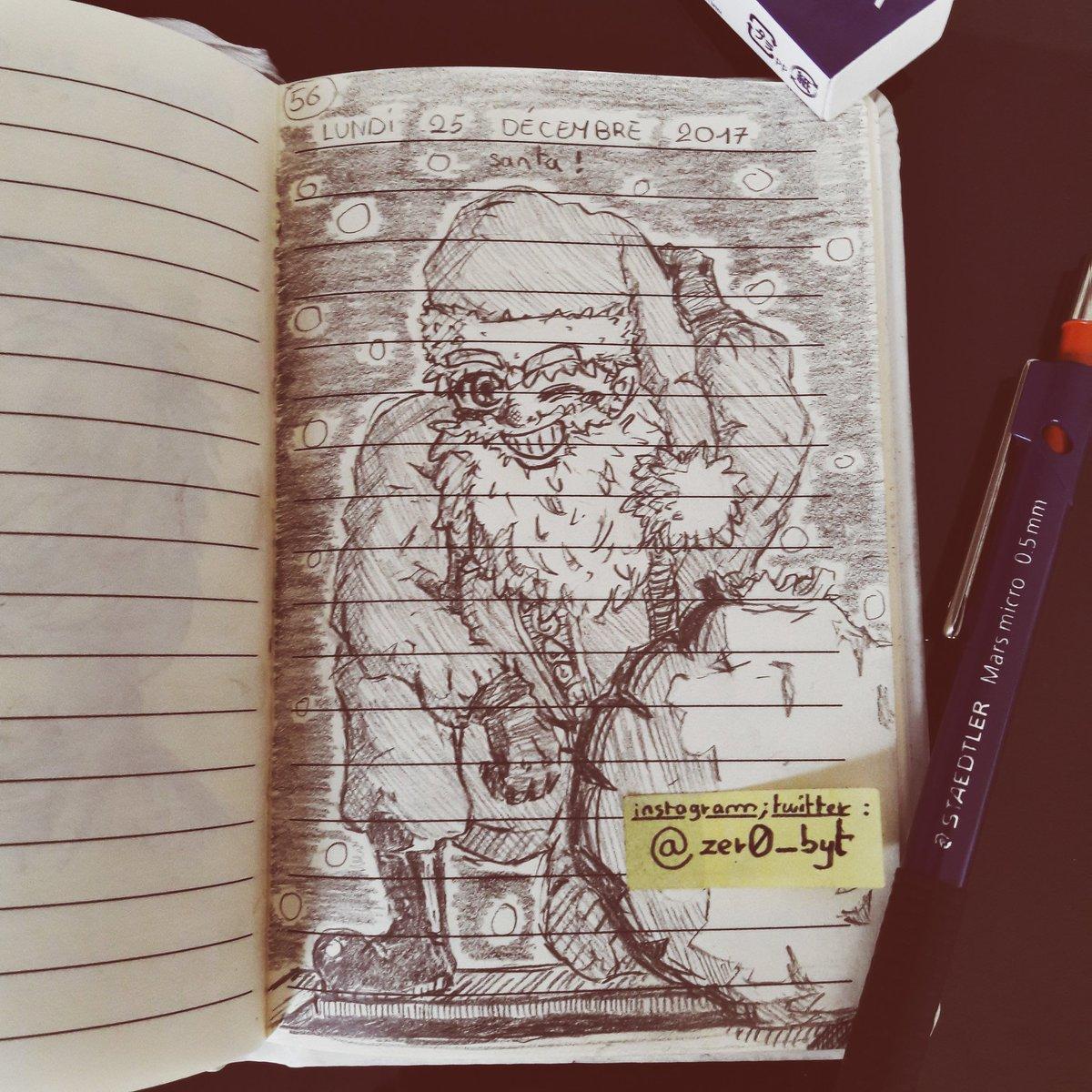 ゼロ Zer0 On Twitter Santa Is Here Drawing