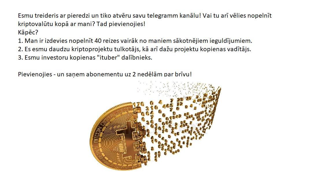 kriptovalūta par ieguldījumiem