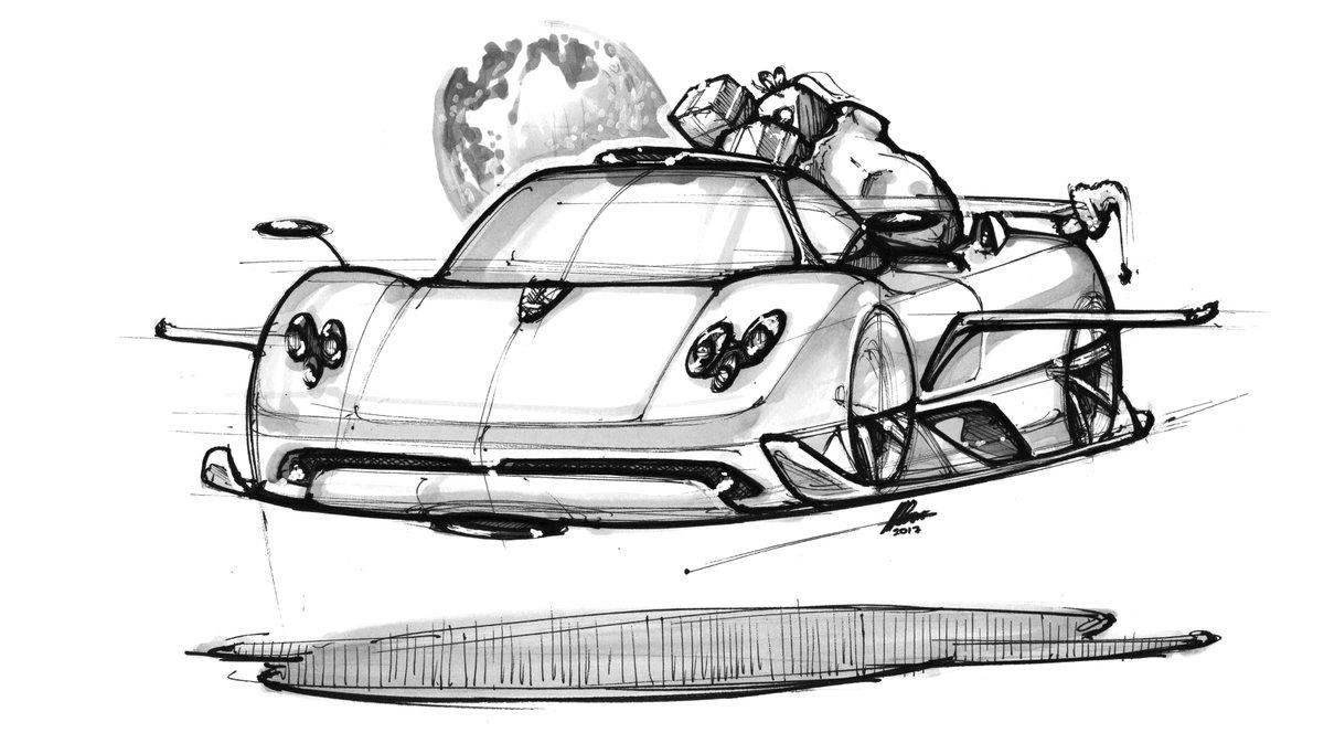 Academicdriving On Twitter Matthewprsns Sketch To Acadrive S Christmasstory Three Santa S Flying Zonda Petrolhead Adventures Drivetribe Car Carsketch Image Carimage Drawing Cardrawing Cardesign Pagani Paganizonda