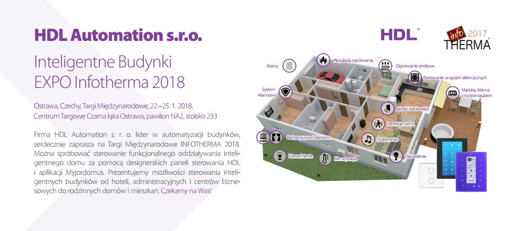 Hdl Automation A Twitter Hdl S Czech Distributor Hdlautomations R O Are Planning Their First Expo Of 2018 Inteligentne Budynki Infotherma Newyear Automation Smarthome Ostrawa Https T Co Yswrqfihip