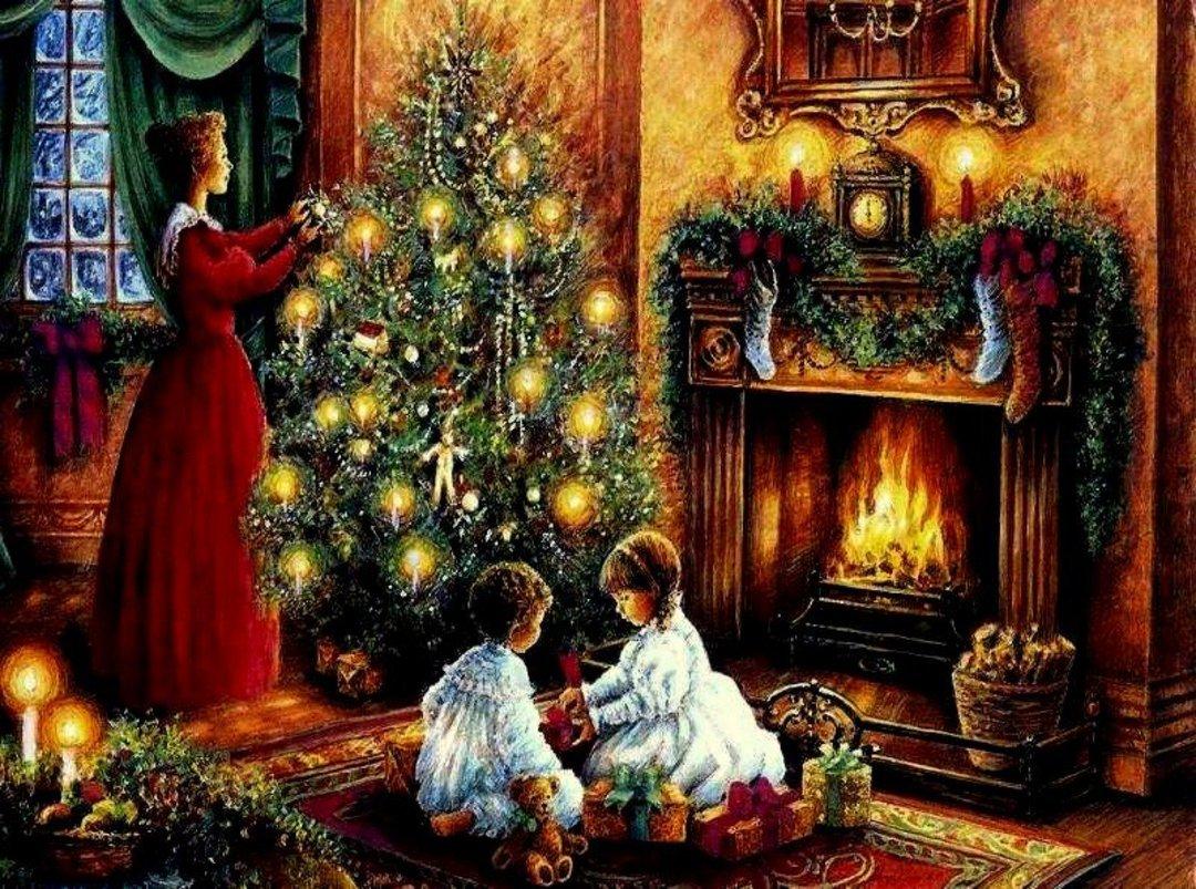Новый год семья открытки, картинки