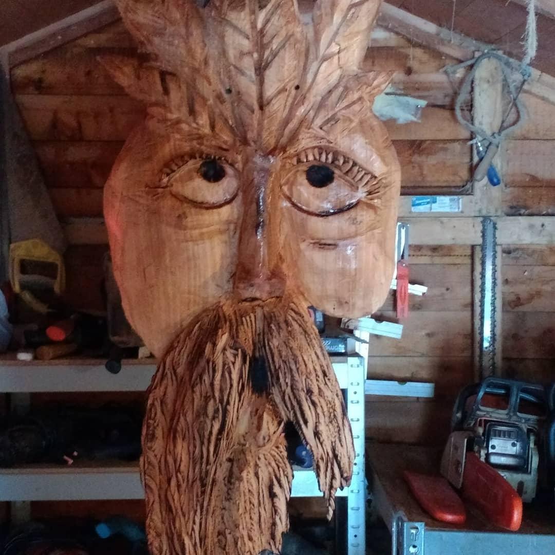 Wizards and green men u ian freemantle wood sculptor