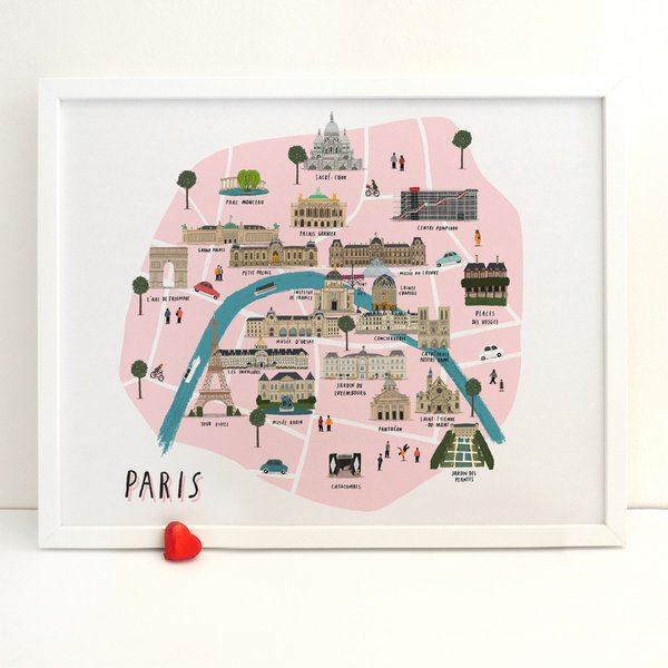 A charming illustrated map of the sights and wonders of Paris https://t.co/kVPYpg8sdb