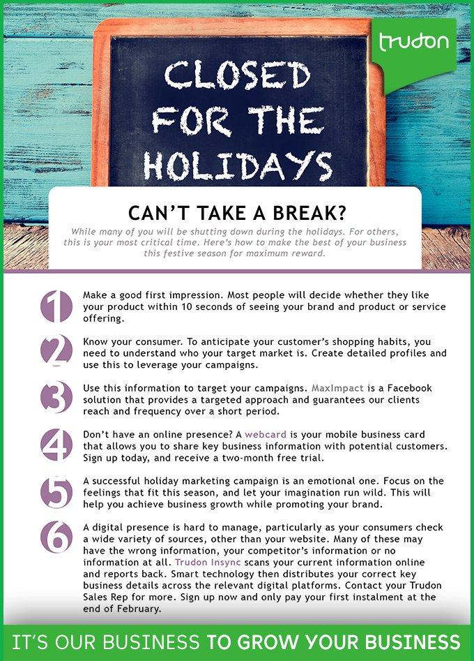 Trudon business on twitter cant take a break we know some everyone is on holiday if thats you here are some tips read our digital magazine for more httptrudonp16031 trudon trudonbusiness colourmoves