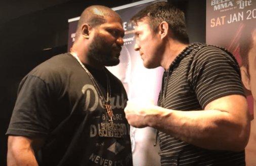 Sonnen e Rampage fazem primeira encarada antes de luta no Bellator https://t.co/424hQExr8s