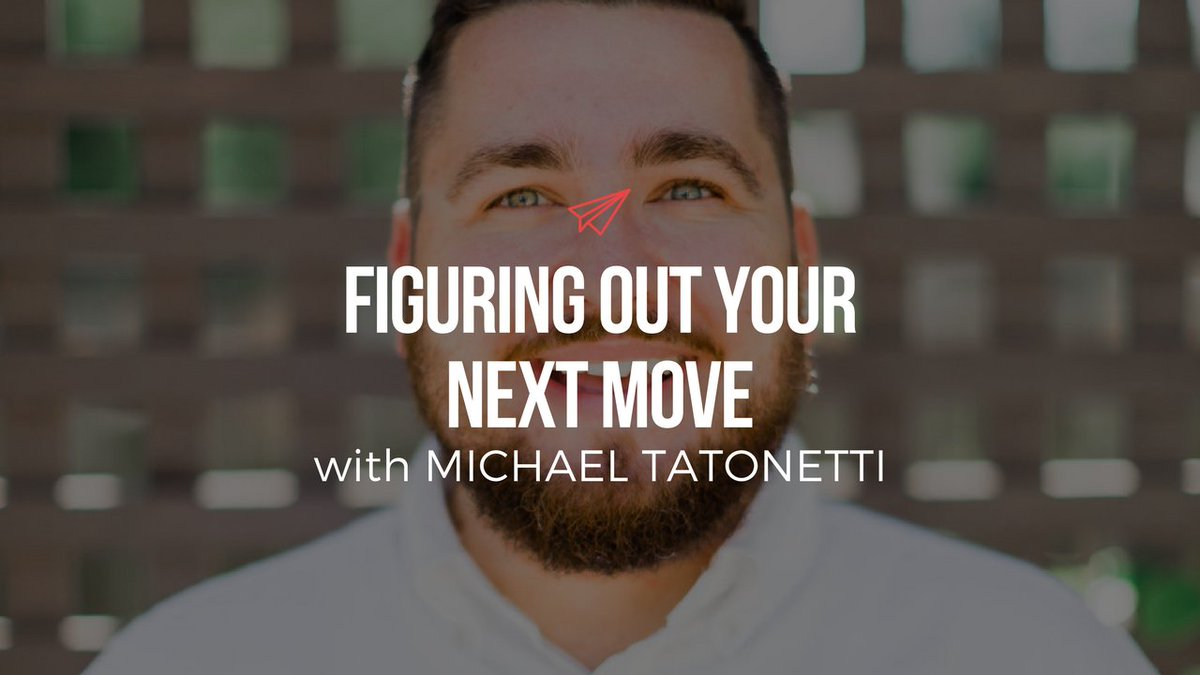 Figuring out your next move with @MTatonetti: https://t.co/m33gfcfVdx #career #purpose https://t.co/n42oYOvt6c
