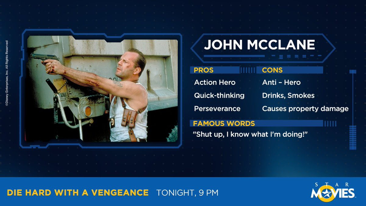 Charismatic, charming and all-round 'smoking'. Meet the intriguing John McClane!