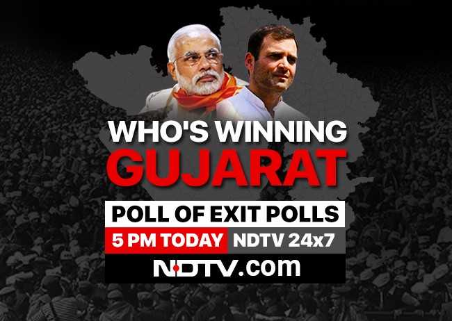 At 5 pm, special Gujarat exit poll coverage, watch here https://t.co/hMlRpgak2y  #AssemblyElections2017 #GujaratElection2017