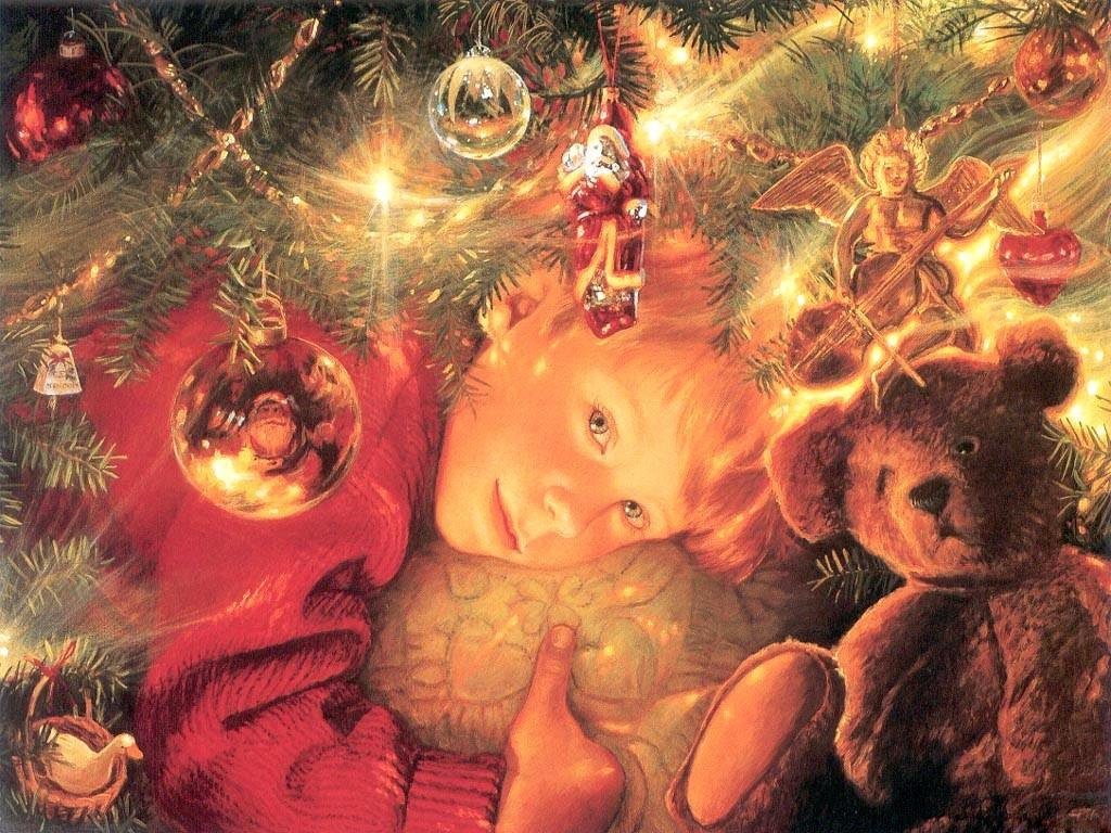 Рождественские открытки для детей, бабушке внука день