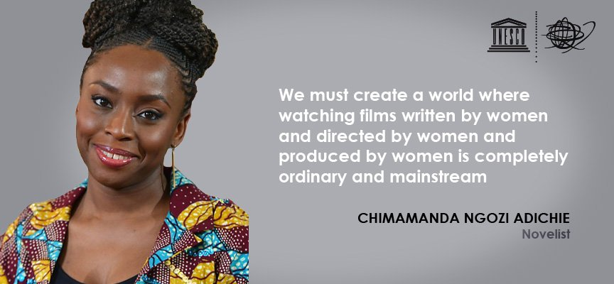 This is a message for the Film industry. We want:  ➕films written by women  ➕films directed by women  ➕films produced by women  #GenderEquality is about respecting our own humanity  ℹ️https://t.co/sP7q3RaKvm #SupportCreativity