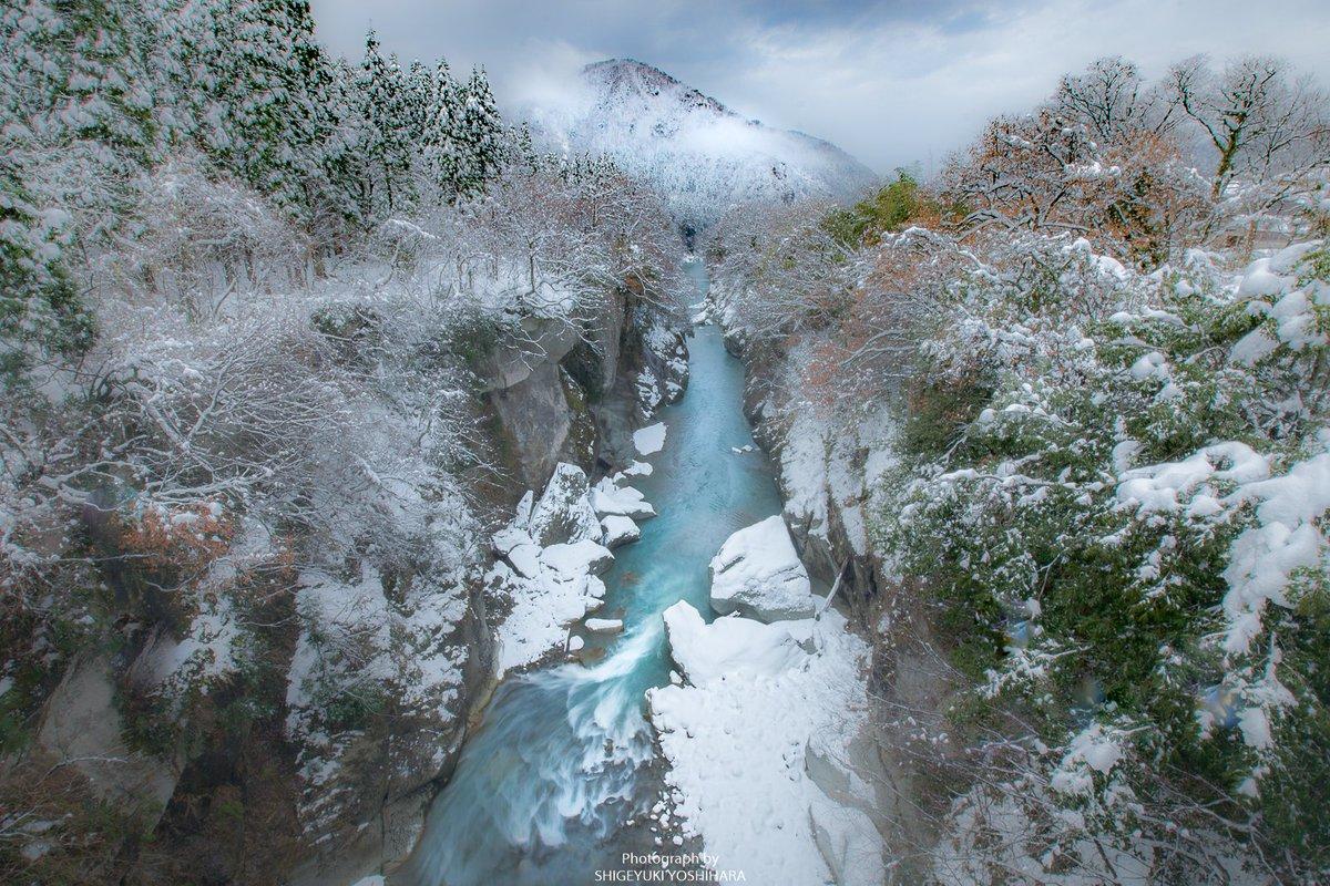 白山市の絶景  手取峡谷の雪景色に感動(^^♪  今日は素敵な絶景を見れて明日か...