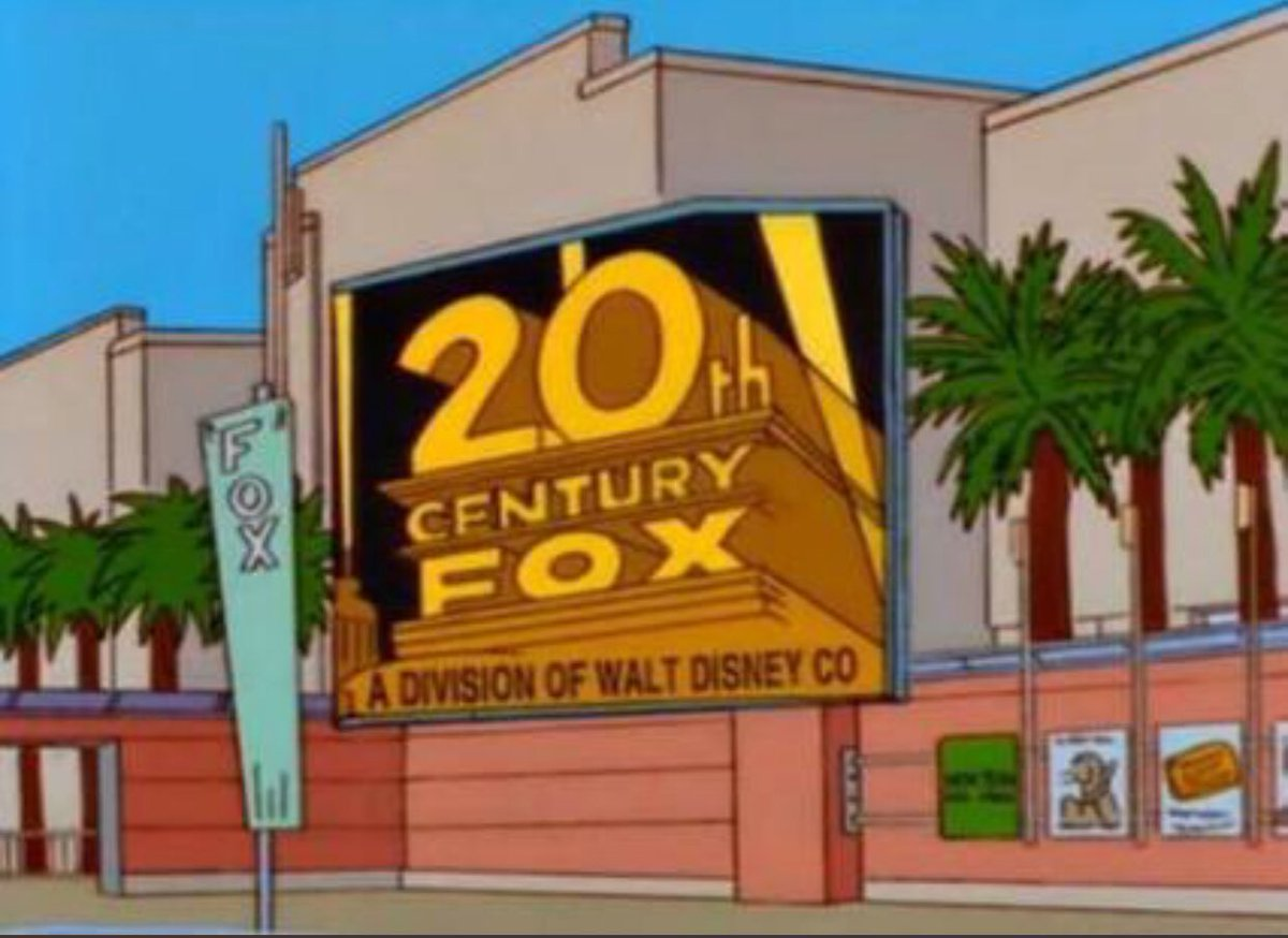 Disney announces it has reached a deal to acquire 21st Century Fox, as predicted by a Simpsons episode that first aired on November 8, 1998.