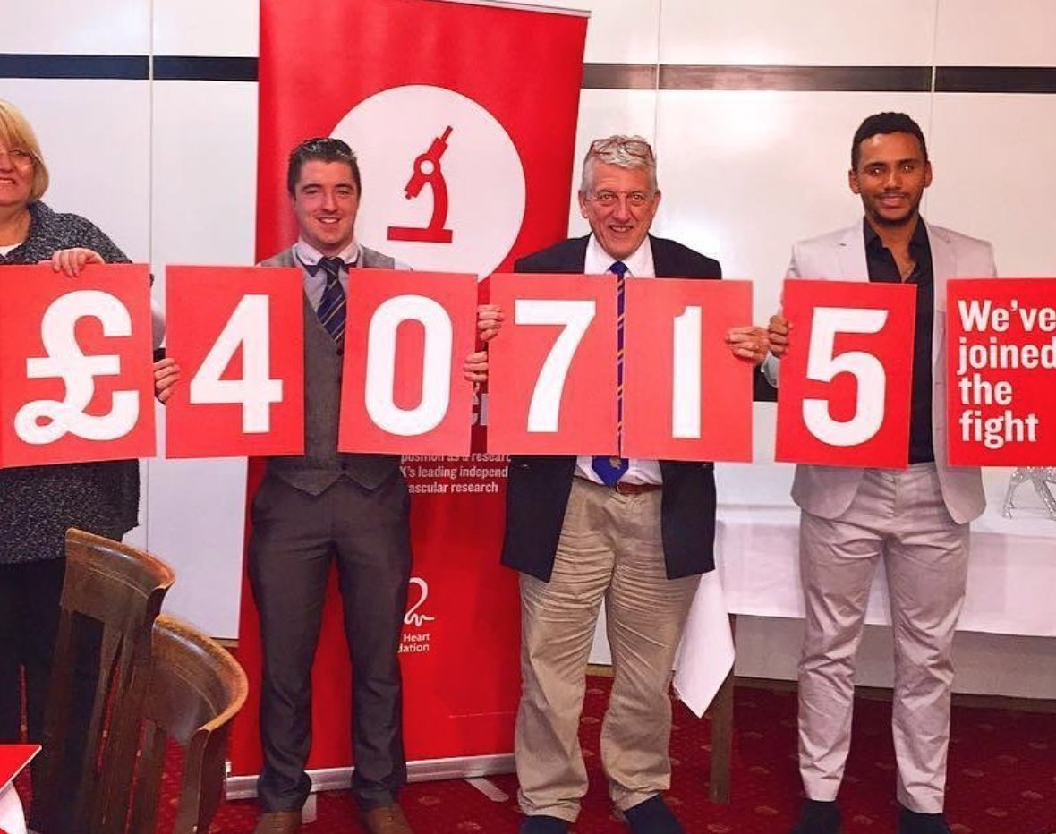 A big thank you to Bognor Regis Golf Club for raising over £40,000 for the BHF over the past six years!