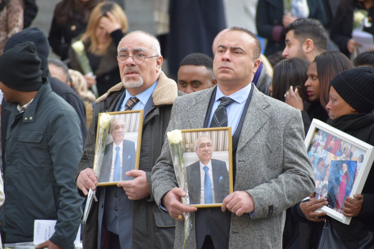 Six months after the Grenfell Tower fire, survivors and victims' families attended a national memorial service at St. Paul's Cathedral, holding pictures of the loved ones they lost #cbc