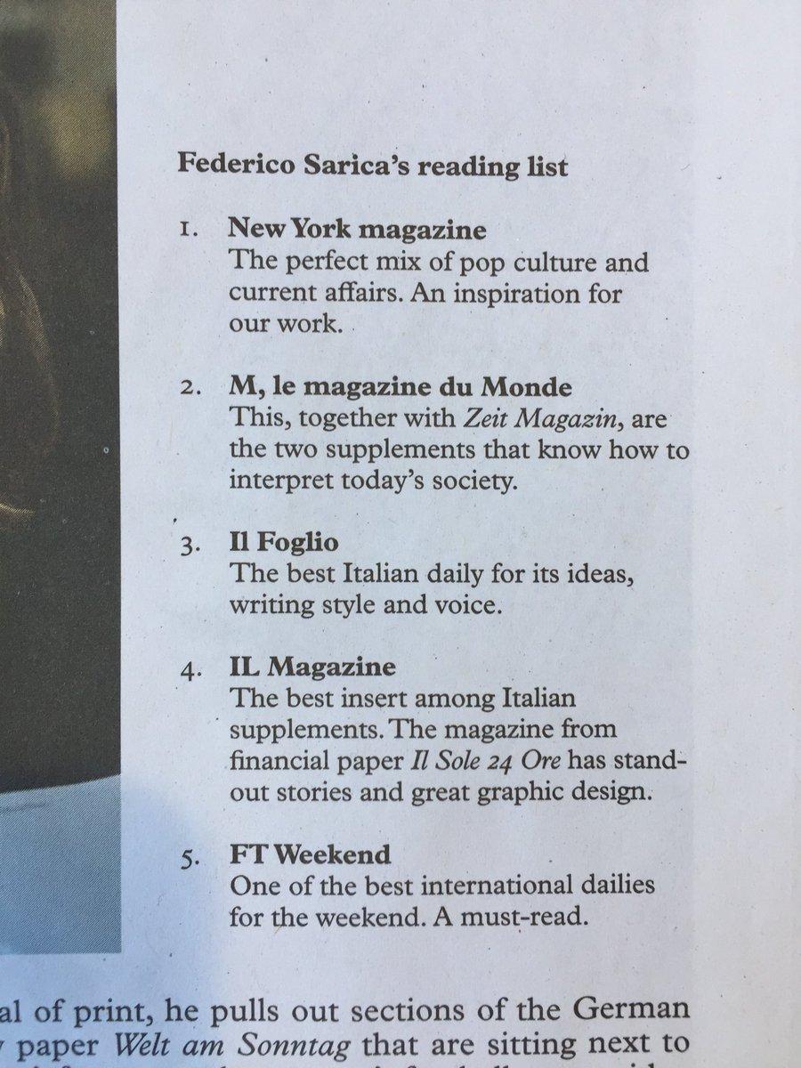 Su @MonocleMag c'è @24ILmagazine @sole24ore. Thanks to @federicosarica, Tyler Brûlé.