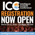 Tomorrow is the LAST DAY to lock-in the very best rates for Intelligent Content Conference. Sign up before it's too late! ⏱ https://t.co/e0GWtapj1X  #intelcontent