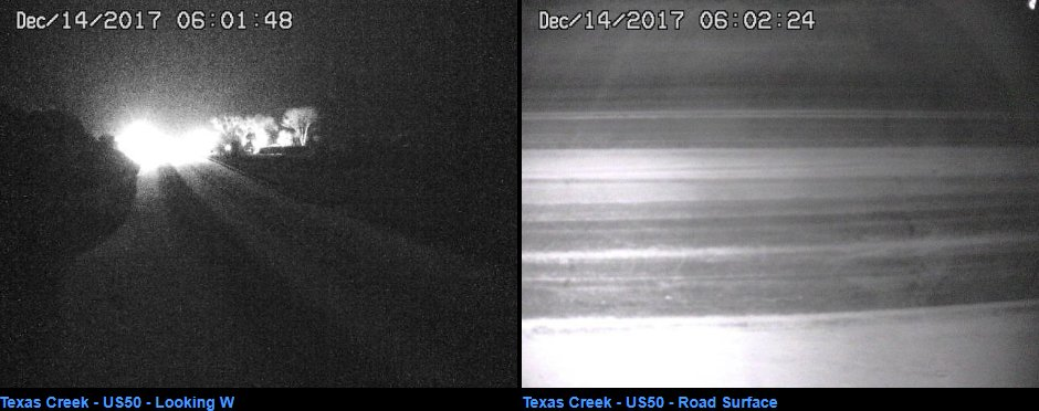 Roads are icy or snow covered across Fremont County. Allow extra time if commuting this morning. Slow down & use caution! Images courtesy of CDOT at 6 am. #cowx