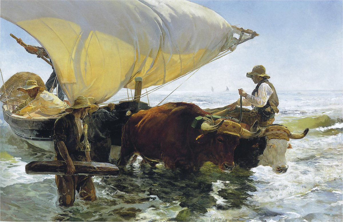 La vuelta de la pesca. Joaquín Sorolla....