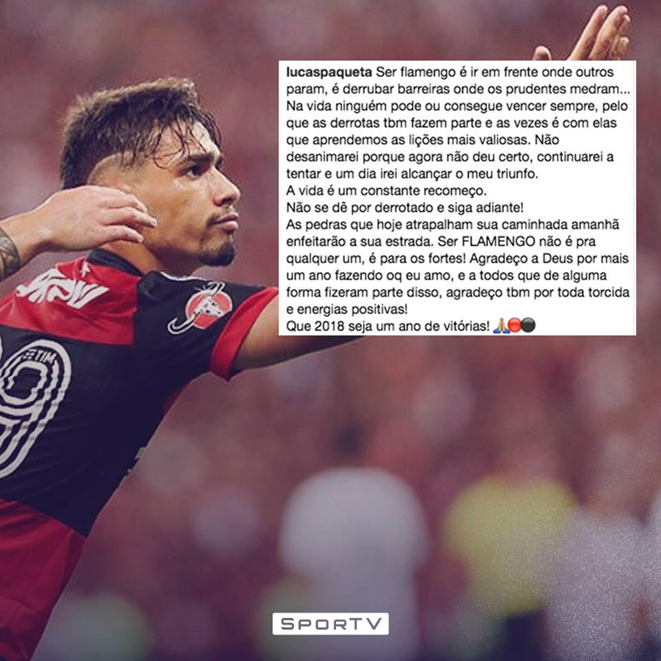 Paquetá representa demais a torcida do Flamengo em campo! #RedacaoSporTV