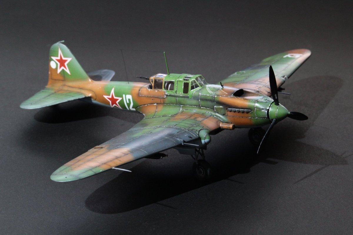 """Zitadelle Twitter ನಲ್ಲಿ: """"タミヤ1/72、IL-2 シュトルモビク完成 ..."""