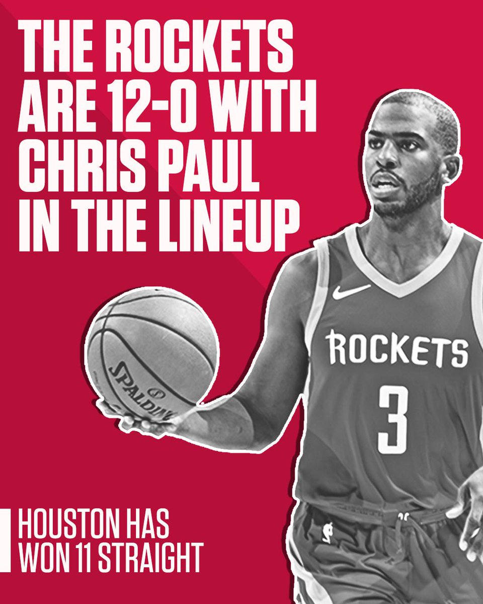 It's been a month since the Rockets lost a game.