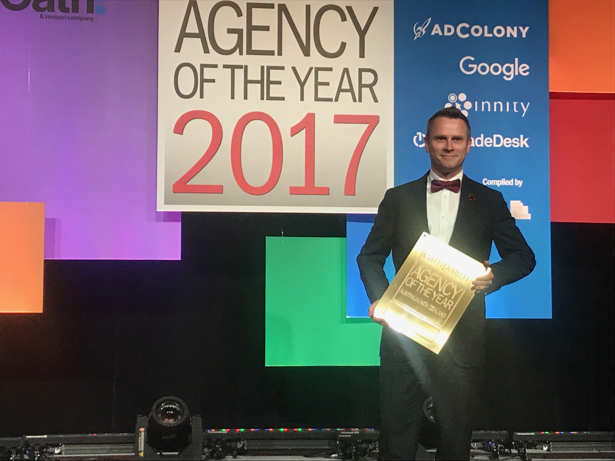 A big cheer for our @UMAustralia  friends on taking GOLD in the Campaign Asia-Pacific Media AOY 2017!! #CampaignAOY https://t.co/n2bbFqx9Oh