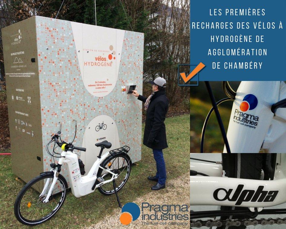 Premières recharges des vélos à hydrogène de l'agglomération de Chambéry. #H2now #écomomilité #hydrogen #vélo #fuelCell #croissanceVerte #TransitionÉcologique #H2bike #Chambéry