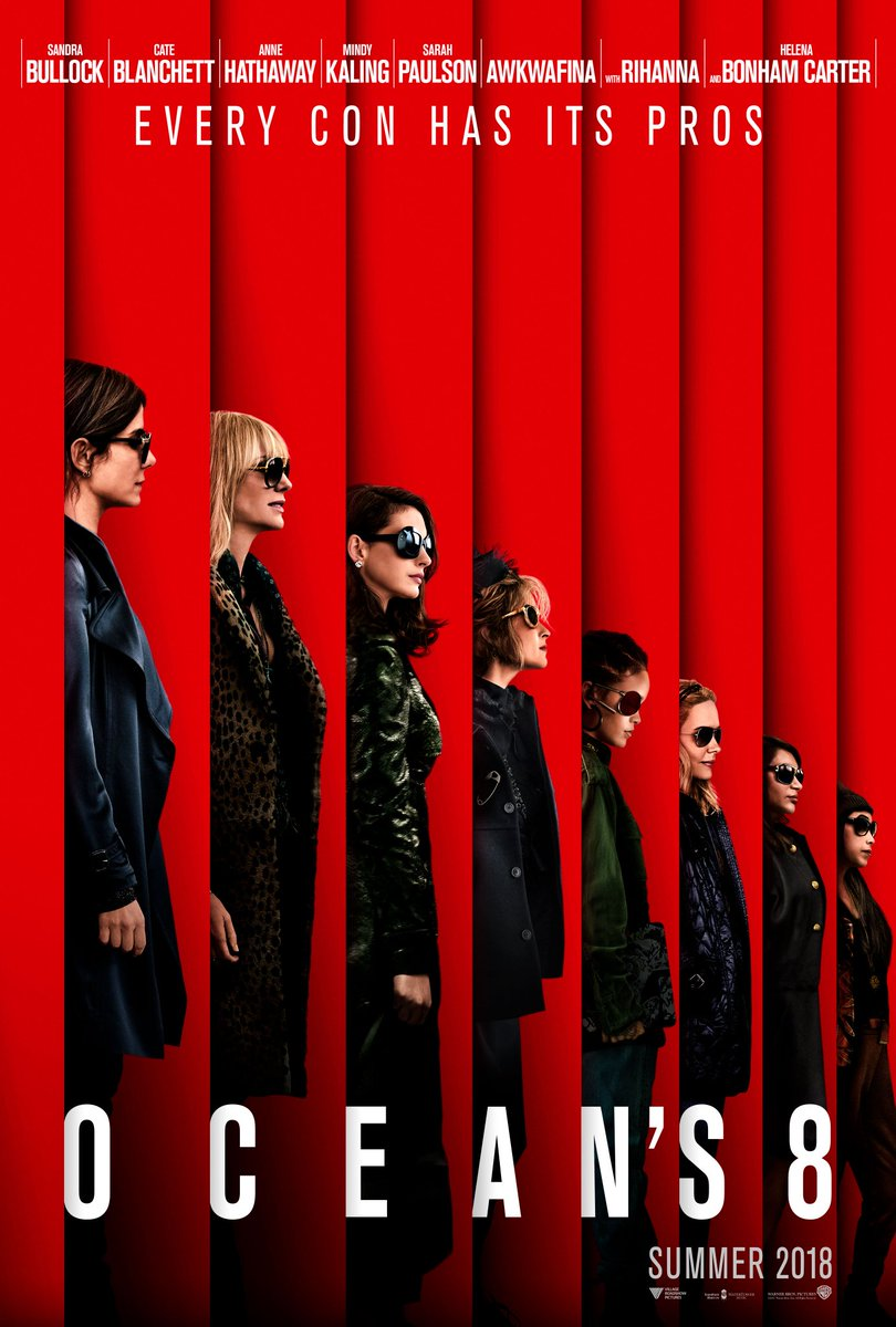 Every con has its pros 😎 New poster for #Oceans8 👉https://t.co/HU4qtFuDNt