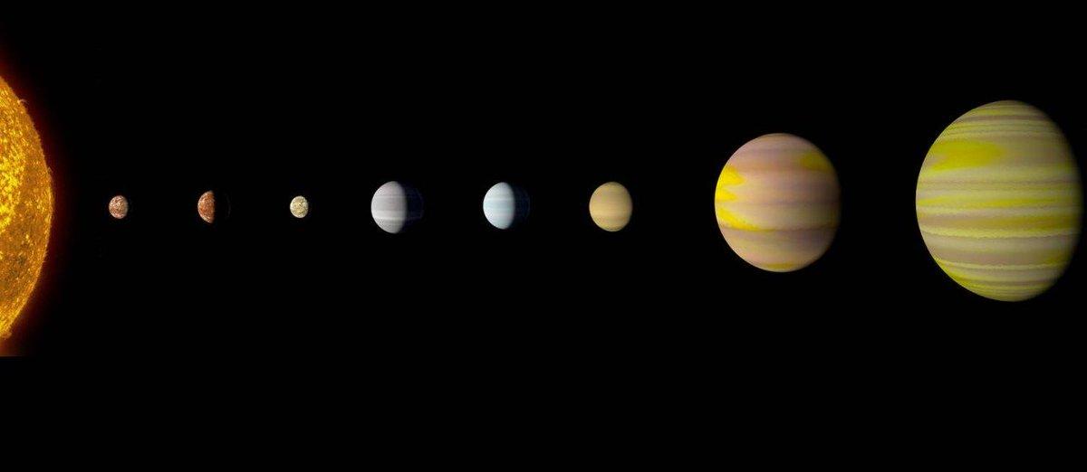 Nasa descobre outro 'sistema solar', com mesmo número de planetas que o nosso. https://t.co/XZjt87cG9W