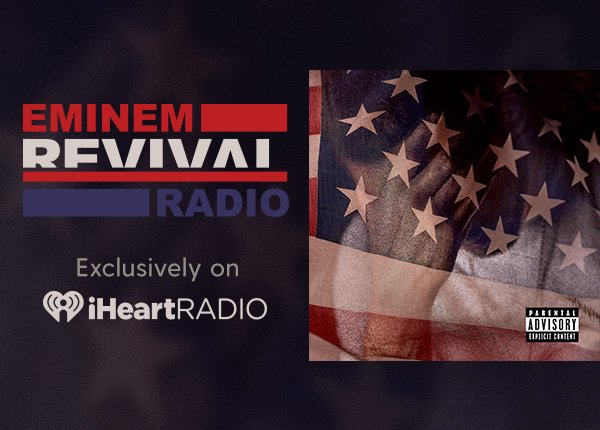 """It's here. @Eminem's long awaited album """"REVIVAL"""" is out and we are premiering a new song every hour! Listen and tweet with us using #iHeartREVIVAL https://t.co/QC5YPhoVNS"""