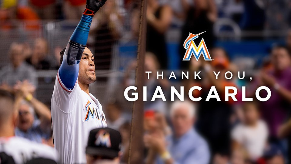 Thank you, @Giancarlo818 and Marcell, for your contributions to the #Marlins over the years. Wishing you the best! �� https://t.co/zMcpj8SWFB