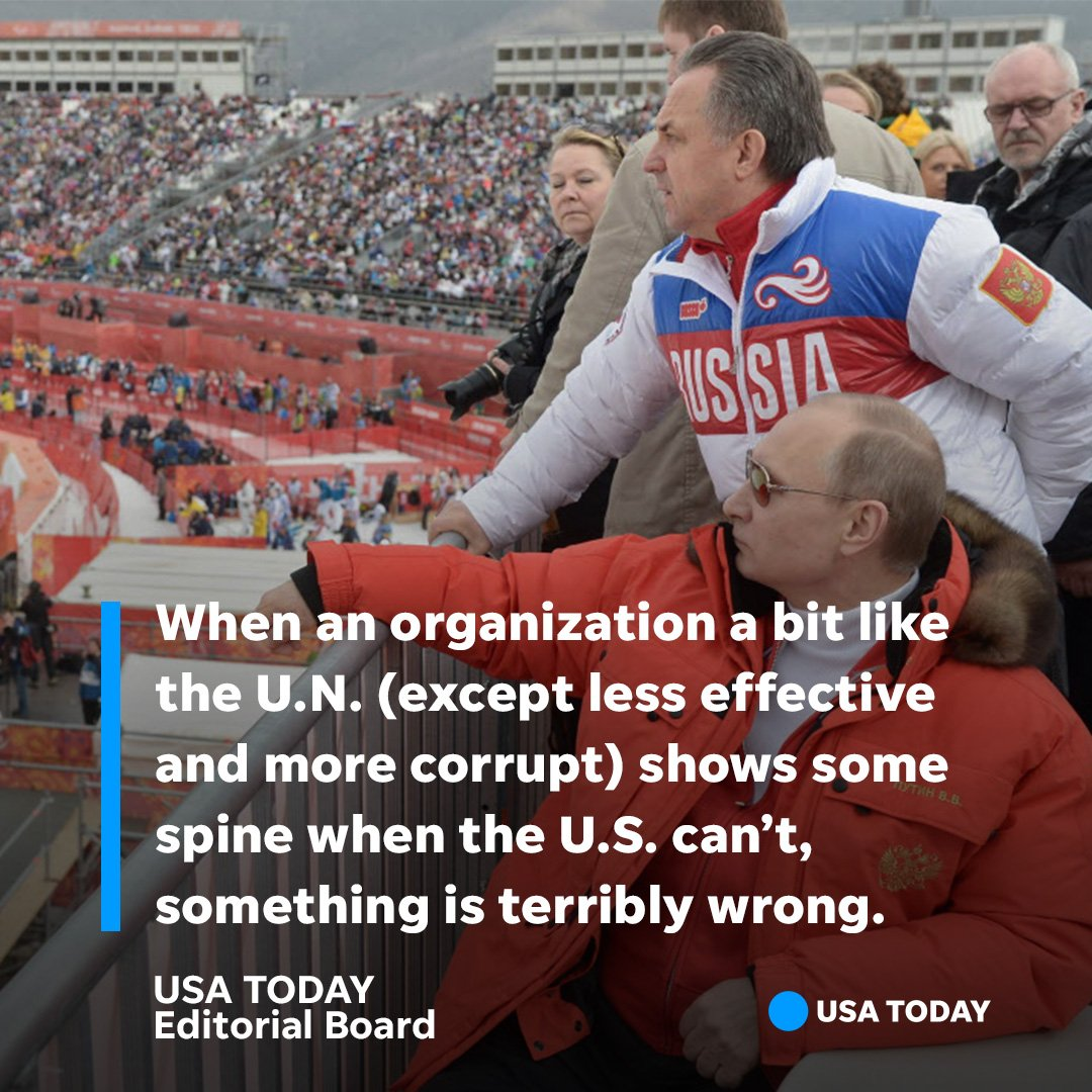 The International Olympic Committee is feckless and crooked, yet somehow stronger than Trump by standing up to Putin. #Ourview on Russian doping: https://t.co/benrNa9ZTa
