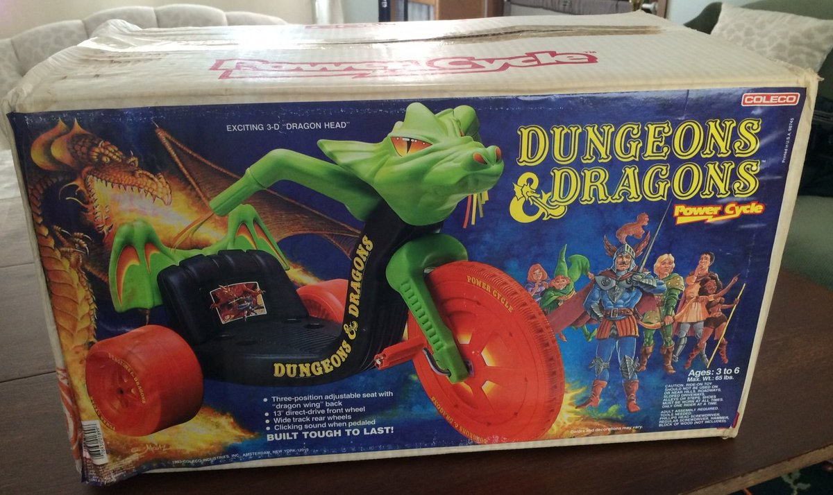 For #dnd #ThrowbackThursday the 1984 D&amp;D Power Cycle. For background, in the late 70s/early 80s having a Big Wheel was almost a rite of passage. <br>http://pic.twitter.com/PR88BWtdnm