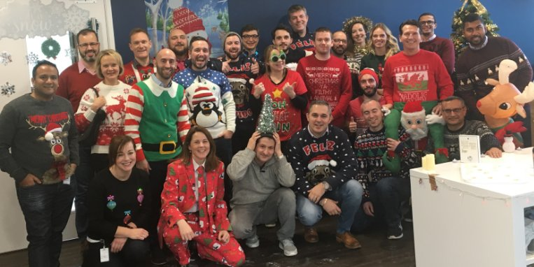 ✅ Christmas Jumpers ✅ Secret Santa Gifts Our #London office knows how to celebrate the holidays. 🎄 #logmeinlife
