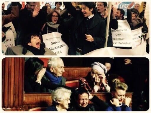 Dopo anni di battaglie finalmente il #biotestamento è legge: questa è l'Italia che vogliamo, un Paese più umano, che ama i suoi cittadini e che ne rispetta il dolore. #LiberiFinoAllaFine https://t.co/iaE9HIUKtp